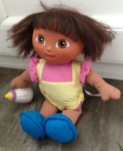 Dora The Explorer Doll Talking With Bottle Fisher Price