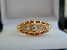 Diamond Five Stone Ring, Graduated Diamond Ring, Diamond Eternity Ring,18ct Gold