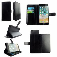 Black Genuine Leather Wallet Case Cover - For THL KNIGHT 2 - XL
