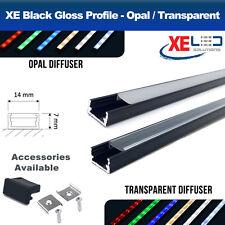 2 Meters Black Aluminium LED Profile Extrusion Channel Mini for LED Strip Lights