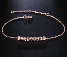 Bracelet Fin Réglable Femme Petites Perles Plaqué Or Rose - Bijoux des Lys