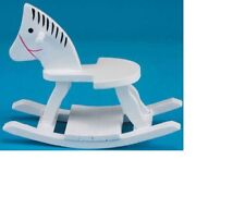 Dollhouse Miniatures 1:12 Scale Rocking Horse, White #CLA10930