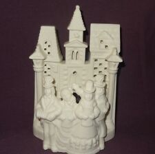 Village Carolers P0204 White Bisque Tealight Candle Holder Partylite Christmas