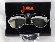 VTG Julbo Yannick Seigneur France Mountain Climbing Leather Sunglasses w/ Case