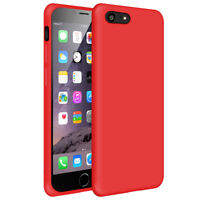 SDTEK Matte Case for iPhone 7 / 8 Soft Cover (Red)