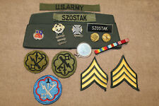 Original 1980's Cold War U.S. Army Sgt. 207th Military Intel Hat & Insignia Lot