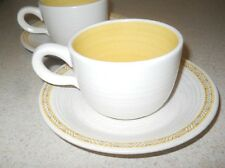 2 Franciscan HACIENDA GOLD Cup Saucers - Set of Two