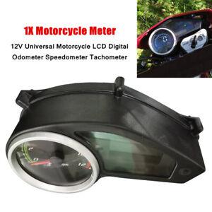 12V Universal Motorcycle LCD Digital Odometer Speedometer Gauge Meter Plastic