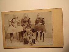 Kinder Burgi / Bürgi - Junge und 3 Mädchen - Schweiz / CDV