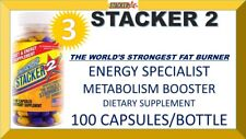 3X STACKER2 2 3 WORLD'S STRONGEST FAT BURNER ENERGY SPECIALIST (300 Capsules)