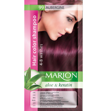 Marion Aloes & Keratin Hair Coloring Shampoo Eggplant Sachet - 40ml