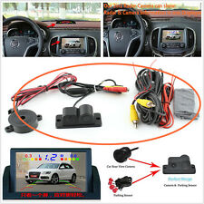 2 in 1 Car Rear View Camera Backup Night Vision & Parking Reversing Radar Sensor