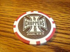#1 One Las Vegas Choppers Nevada Usa Poker Chip Golf Ball Marker-Card Guard Red
