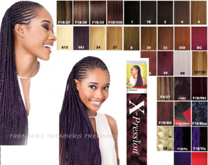 "X-PRESSION (XPRESSION) ULTRA HAIR FOR BRAIDING, EXPRESSION ""KANEKALON"" ORIGINAL"