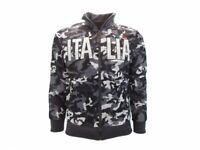 Felpa Italia Camo Vegetata Camouflage stemma Italia zip fino a XXXL