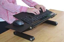 Adjustable Height Tilt Angle Sit Stand Up Computer Keyboard Riser Tray On Desk