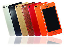 Textured Leather Skin For iPhone 5c Sticker Wrap Cover Protector Decal Case