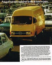 PUBLICITE ADVERTISING   1973   MERCEDES- BENZ    les utliltaires L 206 306D