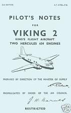 VICKERS VIKING 2 - PILOTS NOTES AP4170D / KING'S FLIGHT