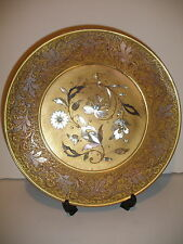 EXQUISITE ANTIQUE 19t HUNGARIAN CORVINIELLO BRONZE INLAID FLOWERS PLATE CHARGER