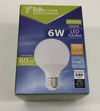 Bulbstar 6 Watt LED Globe 5k Daylight 60 Watt Equivalent. 540 Lumens