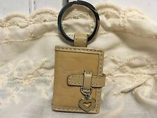 """Coach Signature """"C"""" Embossed Heart Picture Frame Charm Keychain Key Chain Fob"""