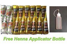 4 White Henna + 12 Black Henna Cones + Applicator Bottle Temporary Tattoo Kit