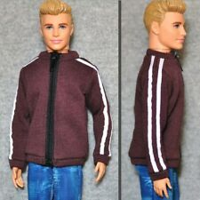 "Handmade doll clothes brown sport jacket for 12"" ken dolls"