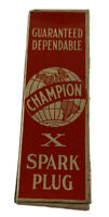 Vintage Champion Spark Plug Box 1930s New Old Stock