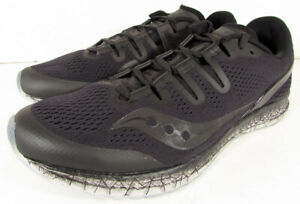 Saucony Hommes Freedom ISO Course Chaussures Baskets, Noir, us 10