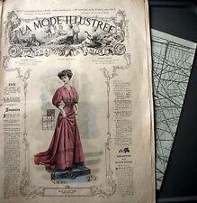 LA MODE ILLUSTREE + PATRON,  n° 50/1907 Voir modèles à réaliser, FRENCH PATTERN