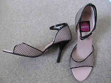 Sacha London high heel shoes party fishnet goth burlesque gypsy size 5 *NEW*