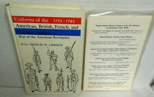 BOOK Uniforms of the American British French and German Armies in AMRev Lefferts