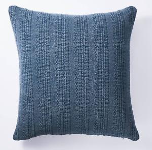 Studio McGee Threshold Oversized Woven Textured Square Throw Pillow Navy Target
