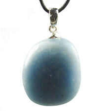 PENDANT - ANGELITE Tumbled Crystal with Description Card - Healing Stone, Reiki