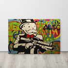 Alec Monopoly Canvas Print Mr Monopoly With Gun Canvas For Wall Ready To Hang