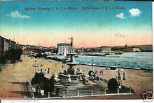 cr 40 - 1919 Spalato Split (Croazia) Fontana Francesco Giuseppe I e Marina NV FP
