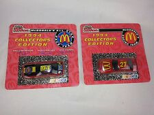 Nascar Lot of 2 RACING CHAMPIONS 1:64 Scale MCDONALDS RACING Diecast Cars NEW