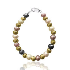 Baby Infant Toddler Multi Color Pearl & Gold Handmade Jewelry Bracelet