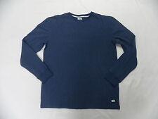 Quiksilver Snit Crew Plain Blue Pullover Sweatshirt Sz Medium