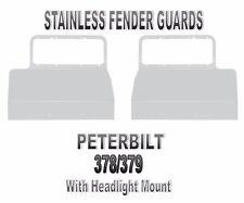 Peterbilt 378/379 Stainless Fender Guards w/ Headlight Mount (PAIR)  1986+