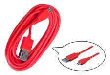 cavo dati USB trasferimento PC ~ Connessione Micro Universale ~ Rosso ~ 3 metri