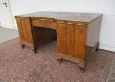 SPITZENDESIGN:   Grosser Schreibtisch - Art-Deco  -  Birke  mit Geheimfach  TOP