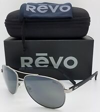 NEW Revo Shaw sunglasses RE 5021 00 GY 61mm Black Grey Polarized Aviator RE5021