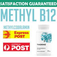 Thorne Research Methylcobalamin Methyl-B12 Vitamin B12 1mg 60 caps 0693749125020