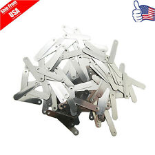 100 x Solder Tab For Sub C SC 14500 18650 AA AAA Battery Cell 2.5X 0.5CM 15g USA