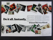 1976 Polaroid 21 Types of Instant Films polacolor sx70 vintage print Ad