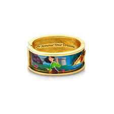 DISNEY Princess Gold-Plated Mulan Dichiarazione braccialetto largo