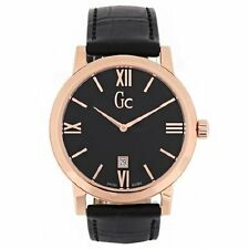 NEW GC GUESS COLLECTION BLACK DIAL,CROC LEATHER+ROSE GOLD,MEN'S WATCH X60005G2S
