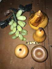 GROUP OF VARIOUS FRUIT AND TRINKET POT SHAPED AS AN APPLE